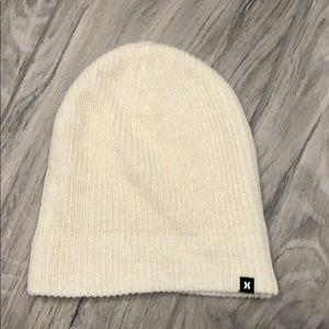 Hurley White Beanie Snow Hat